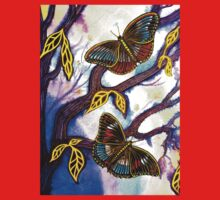 On Golden Wings - Butterflies Baby Tee