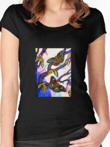 On Golden Wings - Butterflies Women's Fitted Scoop T-Shirt