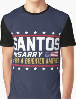 Santos and McGarry Campaign Poster from West Wing Graphic T-Shirt