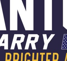 Santos and McGarry Campaign Poster from West Wing Sticker
