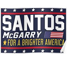Santos and McGarry Campaign Poster from West Wing Poster