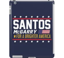Santos and McGarry Campaign Poster from West Wing iPad Case/Skin