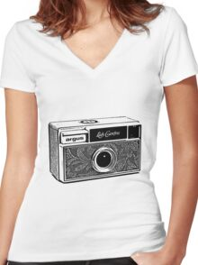 Argus-Lady Carefree Women's Fitted V-Neck T-Shirt