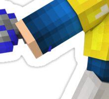 3D Minecraft character Sticker
