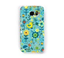Ducks and Frogs in the Garden - Aqua and Lemon Samsung Galaxy Case/Skin
