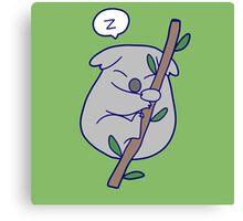 Kawaii Sleeping Koala Canvas Print