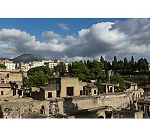 Ancient Herculaneum Ruins - Green and Sunny Afternoon From Above Photographic Print