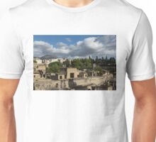 Ancient Herculaneum Ruins - Green and Sunny Afternoon From Above Unisex T-Shirt