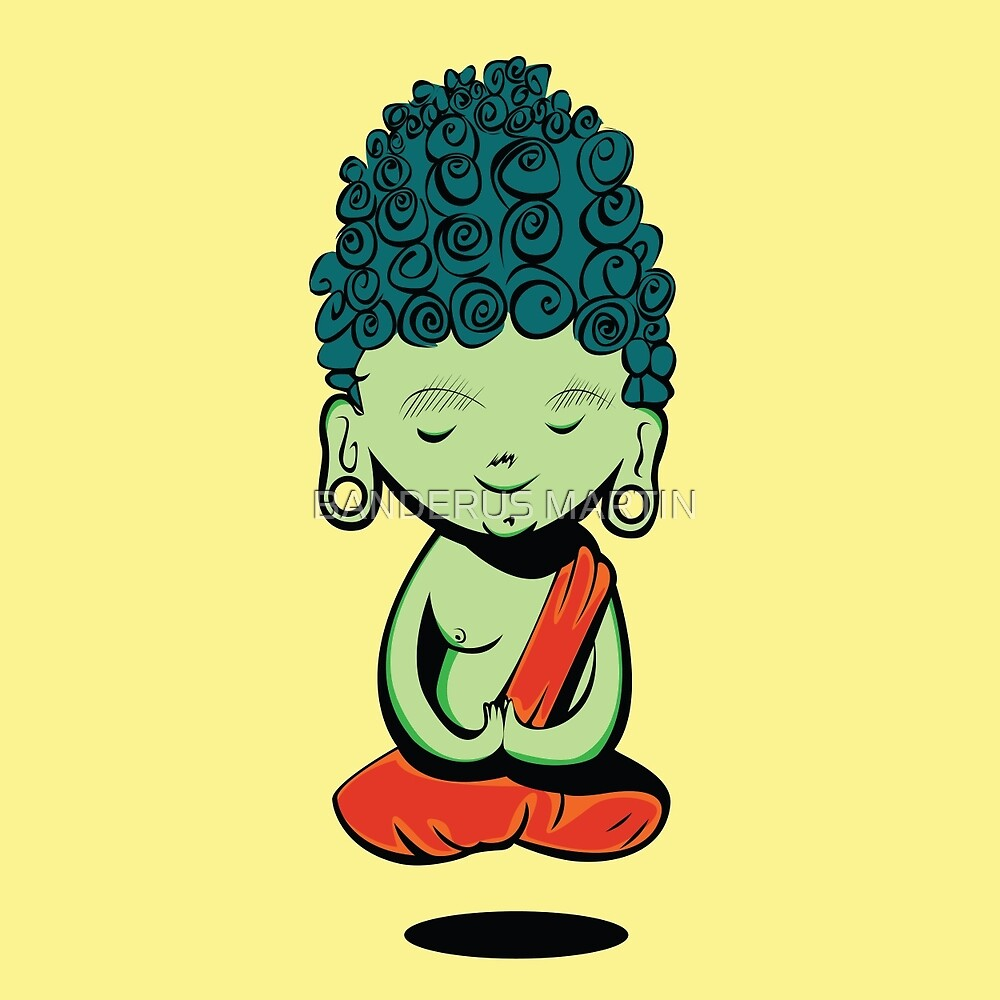Young Green Buddah by BANDERUS MARTIN