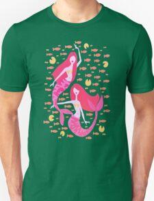 Koi Mermaids – Peach Palette Unisex T-Shirt