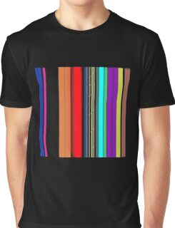 Laideur style Lines color graphic t-shirt  Graphic T-Shirt