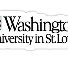 wash u formal logo Sticker