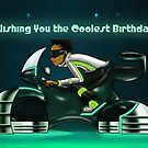 """Wishing You The Coolest Birthday"" Card (blank inside) by treasured-gift"