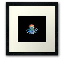 Rainbow Dash Abstract 1 Framed Print