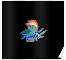Rainbow Dash Abstract 1 Poster