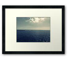 Fine Art Photography Sea view sky Seascape  Framed Print