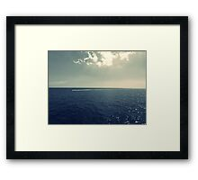 Fine Art Photography Sea view sky Seascape  Framed Print