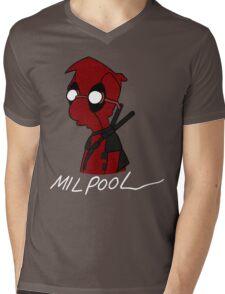 Milpool Mens V-Neck T-Shirt