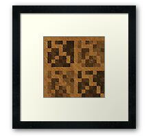 Wood Pixel Blocks  Framed Print