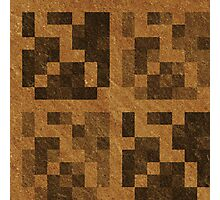 Wood Pixel Blocks  Photographic Print