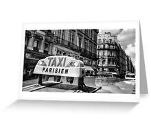Parisien Taxi, Paris, France Greeting Card