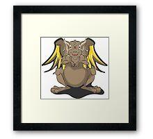 Cute Brown Dragon Framed Print