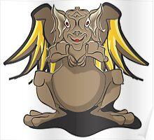 Cute Brown Dragon Poster