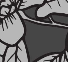 Grey Flower Sticker