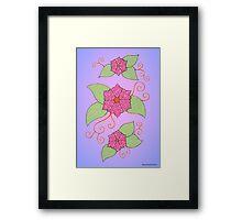 Flowers illustration #4 Framed Print