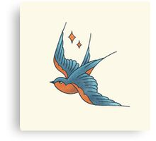 Swallow Tattoo (colour)  Canvas Print