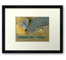 Who Gave the Liquor to the Aliens? Framed Print