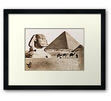 Vintage Photographs and prints of Egypt Framed Print