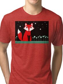 NIGHT FOX Tri-blend T-Shirt