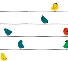 Birds on a Line Sticker
