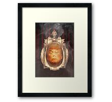 Pay Attention To The Mogul In Front Of The Curtain Framed Print