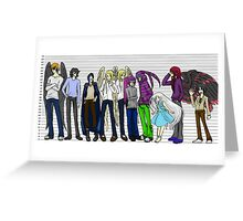 Character height chart Greeting Card