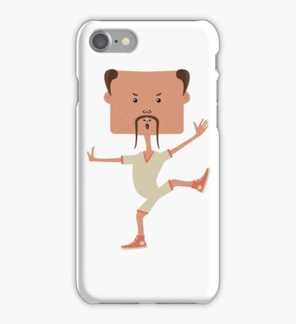 Funny karate man iPhone Case/Skin