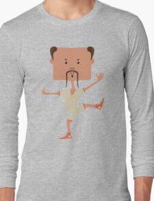 Funny karate man Long Sleeve T-Shirt