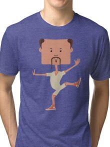 Funny karate man Tri-blend T-Shirt