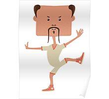 Funny karate man Poster