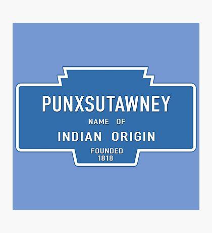 Punxsutawney (Groundhog Day), Entrance Sign, Pennsylvania, USA Photographic Print