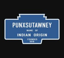 Punxsutawney (Groundhog Day), Entrance Sign, Pennsylvania, USA One Piece - Short Sleeve