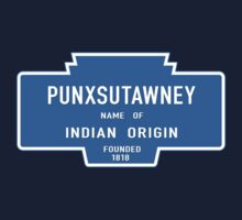 Punxsutawney (Groundhog Day), Entrance Sign, Pennsylvania, USA One Piece - Short Sleeve