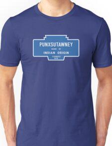 Punxsutawney (Groundhog Day), Entrance Sign, Pennsylvania, USA Unisex T-Shirt