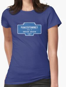 Punxsutawney (Groundhog Day), Entrance Sign, Pennsylvania, USA Womens Fitted T-Shirt