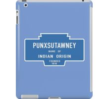 Punxsutawney (Groundhog Day), Entrance Sign, Pennsylvania, USA iPad Case/Skin