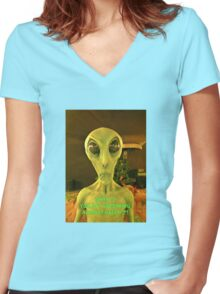 Any Excuse to Discriminate Women's Fitted V-Neck T-Shirt
