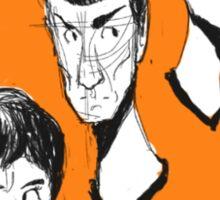 Sketched Star Trek Trio Sticker