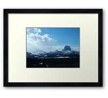 Chief Mountain, Winter Framed Print