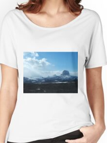 Chief Mountain, Winter Women's Relaxed Fit T-Shirt